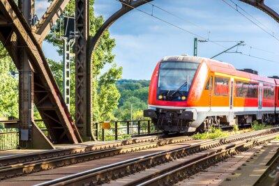 Fototapeta Elektrická lokomotiva ve Frankfurtu nad Mohanem