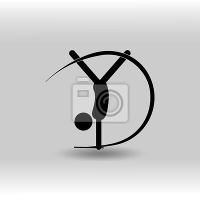 Eps 10 Vektorove Rytmicke Gymnastiky Stuha Sportovni Ikonu Letni