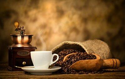 Fototapeta Espresso se starým mlýnek na kávu