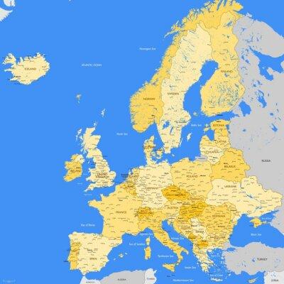 Fototapeta Europe map cities