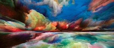 Fototapeta Exploding Land and Sky