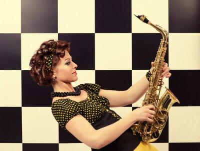 Fototapeta expresivní saxofonista