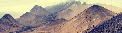 Fototapeta Fantastická krajina neživých hory