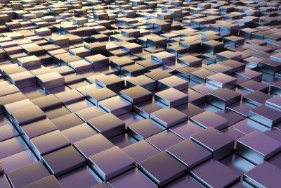 Fototapeta fialové kovové kostky