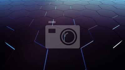 Fialový šestiúhelník vzor
