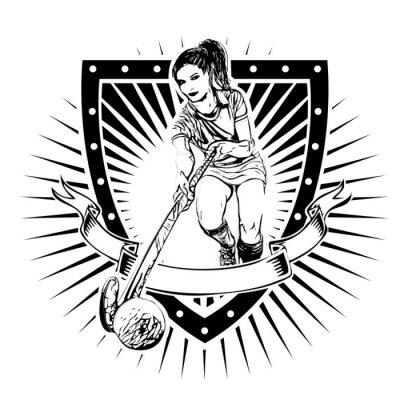 Fototapeta field hockey shield