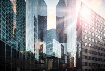 Fototapeta Finanční čtvrť na slunci