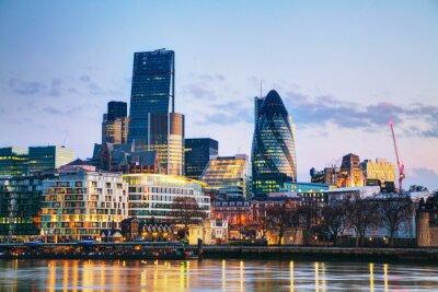 Fototapeta Finanční čtvrti City of London