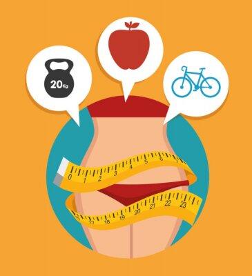 Fototapeta fitness životní styl designu