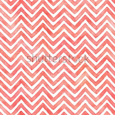 Fototapeta Flamingo růžové akvarely šňůra vzor