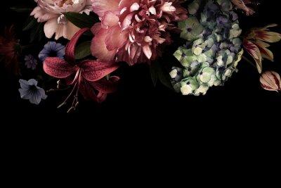 Fototapeta Floral card. Vintage flowers.