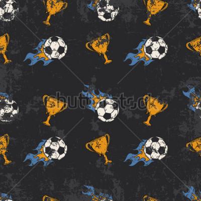 Fototapeta Football pattern