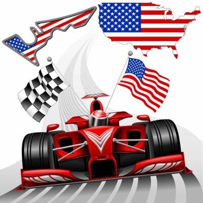 Fototapeta Formule 1 Race Car GP Austin USA