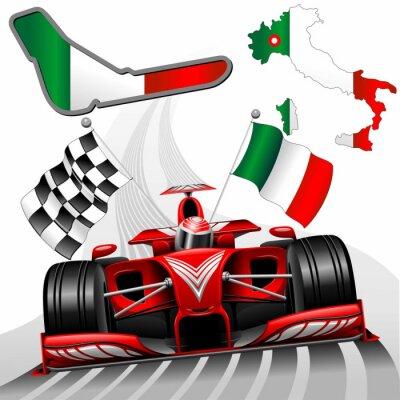 Fototapeta Formule 1 Red Race Car GP Monza Itálie