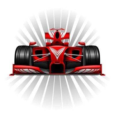 Fototapeta Formule 1 Red závodní auto