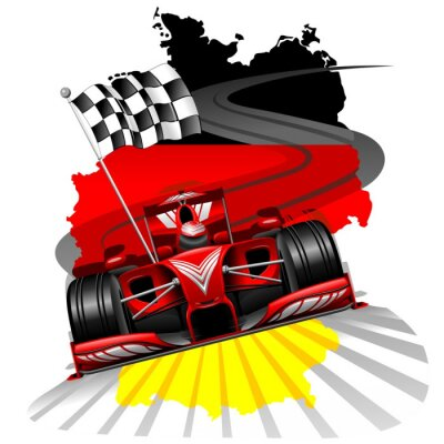 Fototapeta Formule 1 VC Německa
