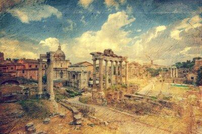 Fototapeta Foro Romano. Řím. Itálie.