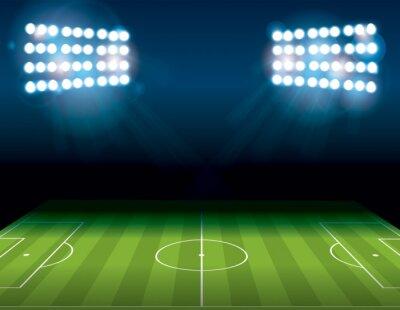 Fototapeta Fotbal Americký fotbal pole Illuminated Ilustrace