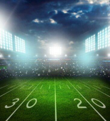 Fototapeta Fotbal, američtí, stadium.