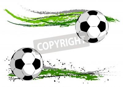 Fototapeta Fotbal na zelené abstraktní