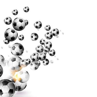 Fototapeta fotbalový míč na bílém pozadí