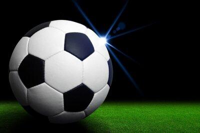 Fototapeta Fotbalový míč na zeleném stadionu