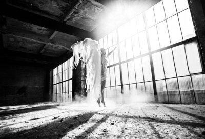 Fototapeta Foto s osoby a andělská křídla