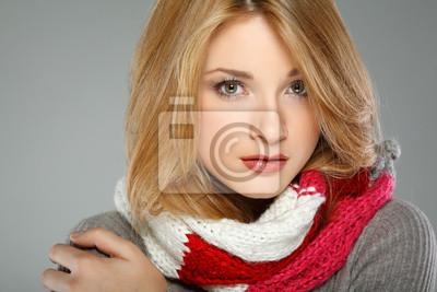 Fototapeta Fotografie krásná dívka v zimním oblečení