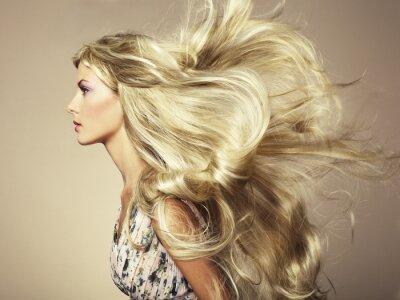 Fototapeta Fotografie krásná žena s nádherným vlasy