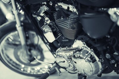 Fototapeta fragment motocyklu