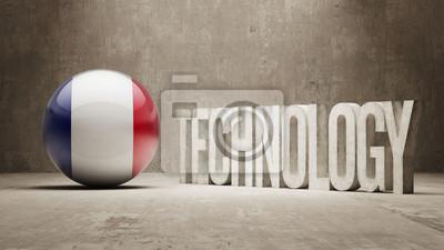 Francie. Technologie Concept.