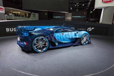 Fototapeta Frankfurt, Deutschland - 15.září 2015: Bugatti Vision Gran Turismo Koncept prezentovány na 66. mezinárodním autosalonu ve Frankfurtu Messe