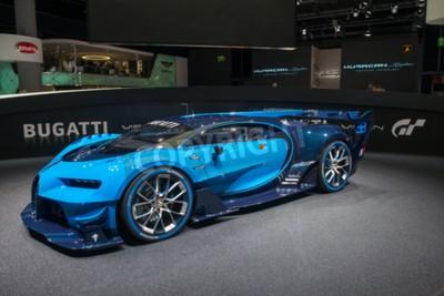 Fototapeta Frankfurt, Německo - 16 září 2015: autosalonu ve Frankfurtu (IAA) 2015. Bugatti Vision Gran Turismo - světová premiéra.