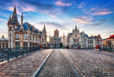 Fototapeta Gent, Belgie v, staré město v Gentu