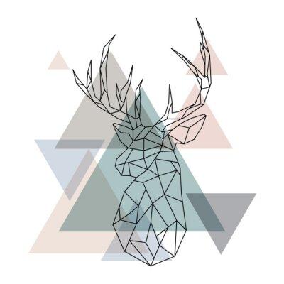Fototapeta Geometrické ilustrace sobů