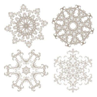 Fototapeta Geometrický kruhový ornament set.