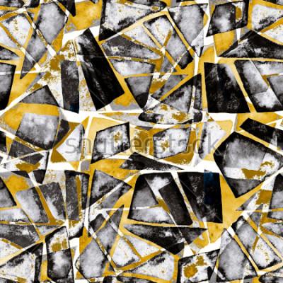 Fototapeta Geometrický vzor. Abstraktní textury akvarelu v moderním stylu.