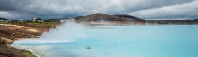 Fototapeta Geotermální rybník, Myvatn
