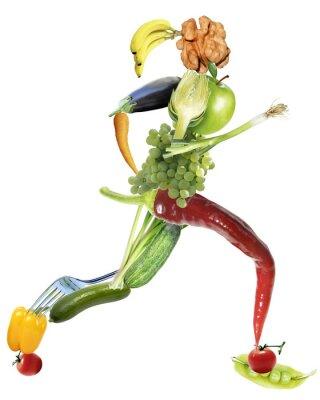 Fototapeta Gesunde Ernährung und sport