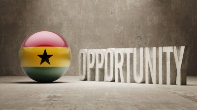 Ghana. Příležitost Concept.