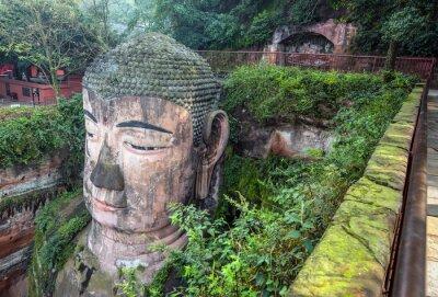 Fototapeta Giant Buddha (Da fo) - Le-šan, Sichuan, Čína