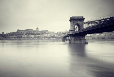 Fototapeta Gloomy zimní obrázek maďarských pamětihodností,