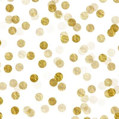 Fototapeta Gold Dots Faux fólie kovové pozadí vzor textura