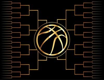 Fototapeta Golden Basketbal ikon a držák
