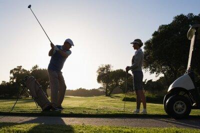 Fototapeta Golf pár odpaliště off na den