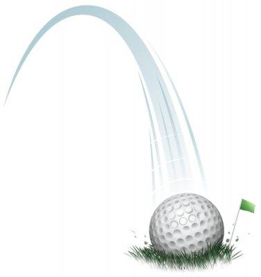 Fototapeta golfový míček akce