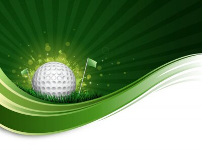 Fototapeta golfový míček vlna