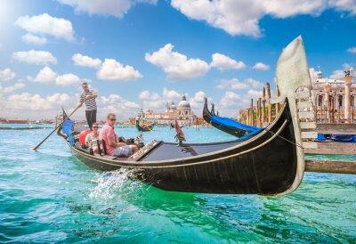 Fototapeta Gondola na Canal Grande v Benátkách v Itálii