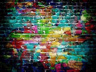 Fototapeta graffiti cihlové zdi