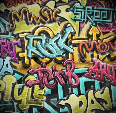 Fototapeta Graffiti grunge pozadí